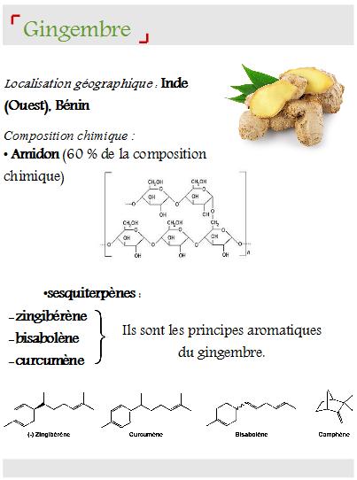 gingembre composition chimique